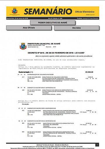 Semanário Oficial - Ed. 298