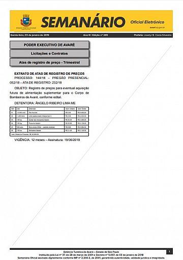 Semanário Oficial - Ed. 266