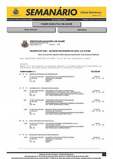 Semanário Oficial - Ed. 240