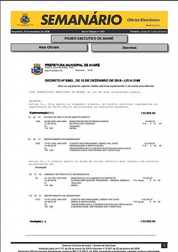 Semanário Oficial - Ed. 258