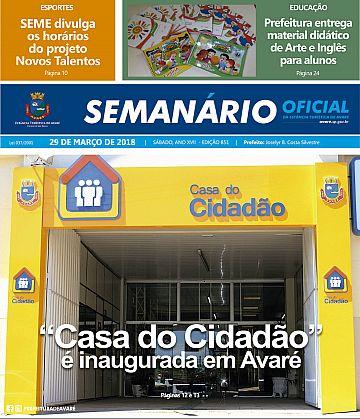 Semanário Oficial - Ed. 852