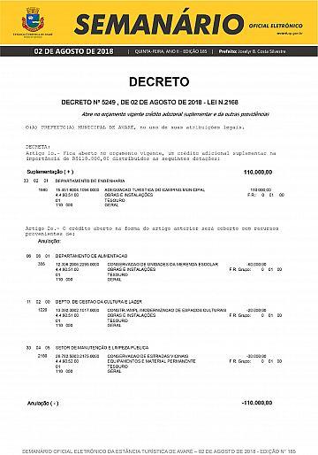 Semanário Oficial - Ed. 185