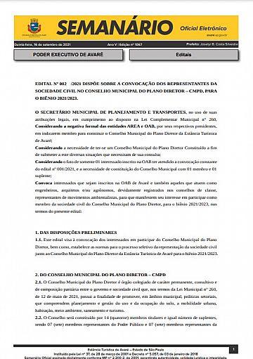Semanário Oficial - Ed. 1067