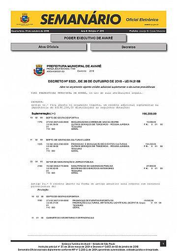 Semanário Oficial - Ed. 235