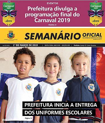 Semanário Oficial - Ed. 899