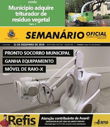 Semanário Oficial - Ed. 940