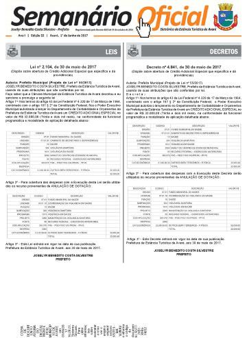 Semanário Oficial - Ed. 22