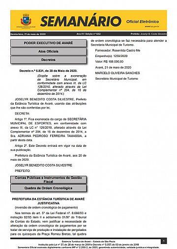 Semanário Oficial - Ed. 632