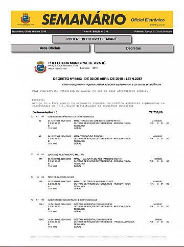 Semanário Oficial - Ed. 316