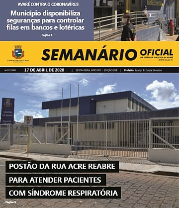 Semanário Oficial - Ed. 958