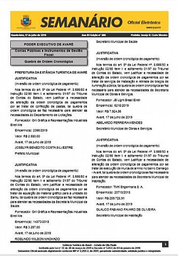 Semanário Oficial - Ed. 386