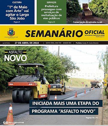 Semanário Oficial - Ed. 855