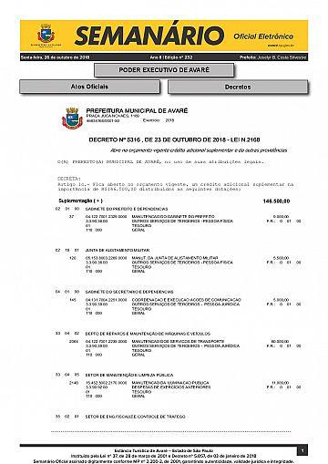 Semanário Oficial - Ed. 232