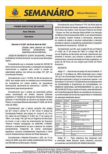 Semanário Oficial - Ed. 919