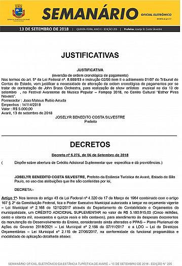 Semanário Oficial - Ed. 205