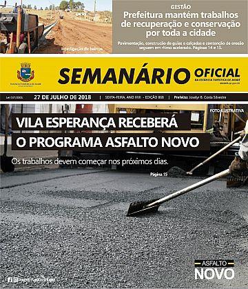 Semanário Oficial - Ed. 868