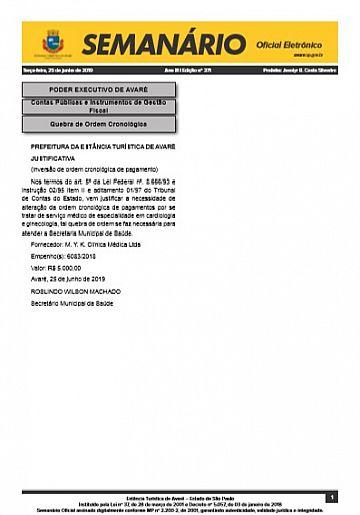 Semanário Oficial - Ed. 371