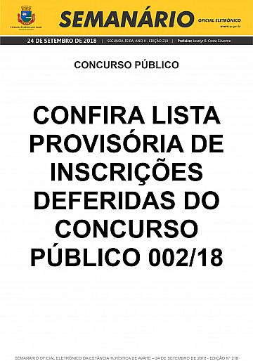 Semanário Oficial - Ed. 210