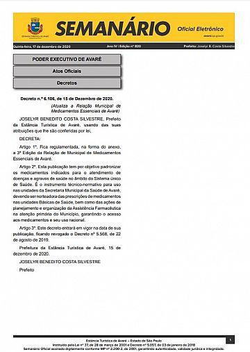 Semanário Oficial - Ed. 820