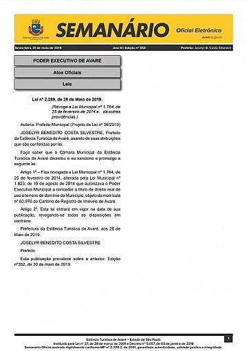 Semanário Oficial - Ed. 353