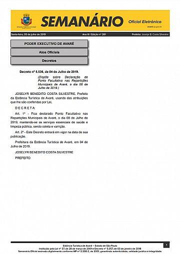 Semanário Oficial - Ed. 381