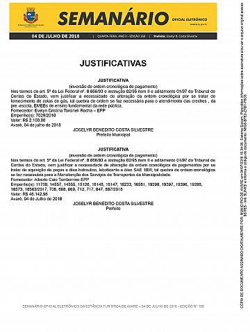 Semanário Oficial - Ed. 168