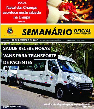 Semanário Oficial - Ed. 889