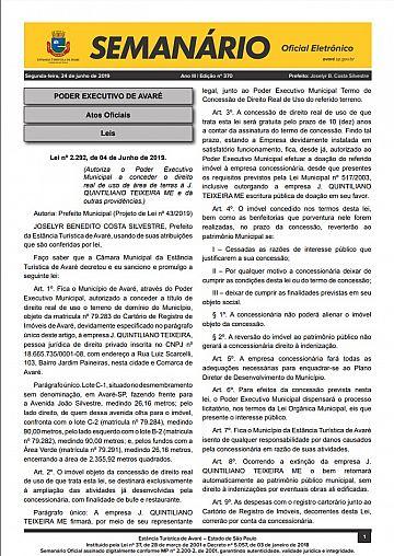 Semanário Oficial - Ed. 370