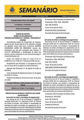 Semanário Oficial - Ed. 699