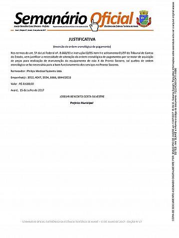 Semanário Oficial - Ed. 27