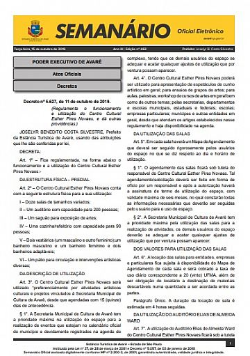 Semanário Oficial - Ed. 462