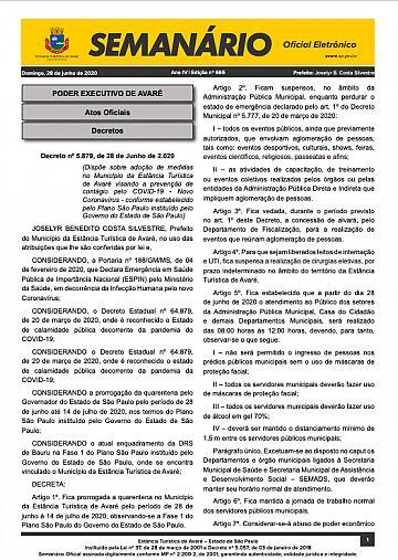 Semanário Oficial - Ed. 665