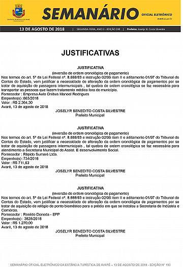 Semanário Oficial - Ed. 190