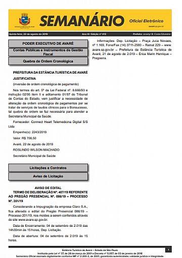 Semanário Oficial - Ed. 413
