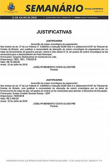 Semanário Oficial - Ed. 174