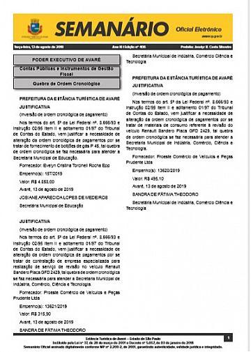 Semanário Oficial - Ed. 406
