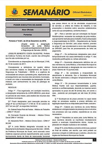 Semanário Oficial - Ed. 269