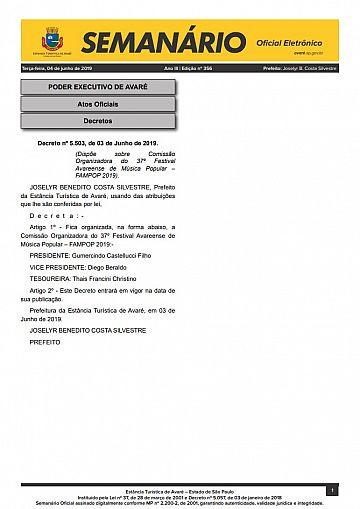 Semanário Oficial - Ed. 356