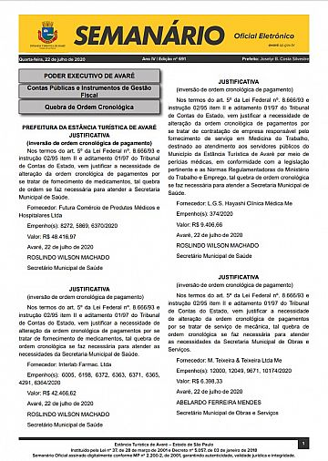 Semanário Oficial - Ed. 691