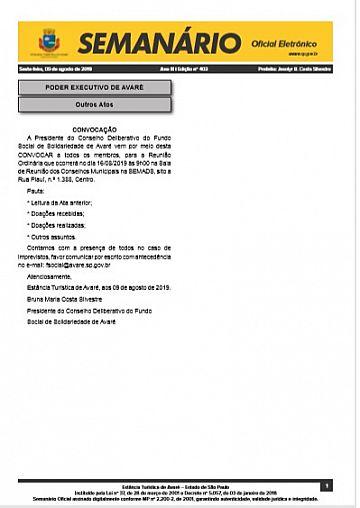 Semanário Oficial - Ed. 403