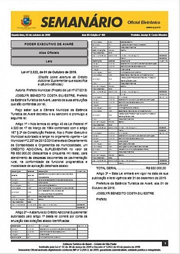 Semanário Oficial - Ed. 451