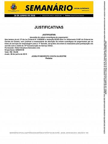 Semanário Oficial - Ed. 165