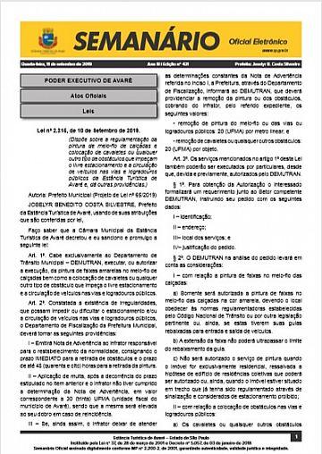 Semanário Oficial - Ed. 431