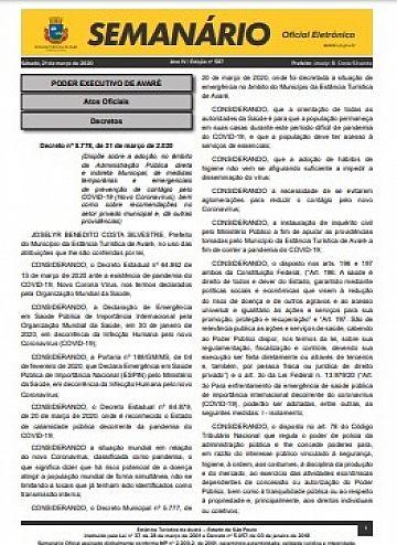 Semanário Oficial - Ed. 587