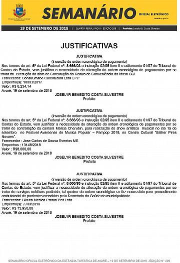 Semanário Oficial - Ed. 209