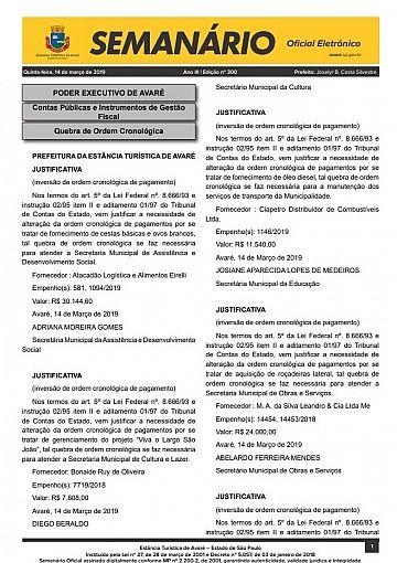 Semanário Oficial - Ed. 300