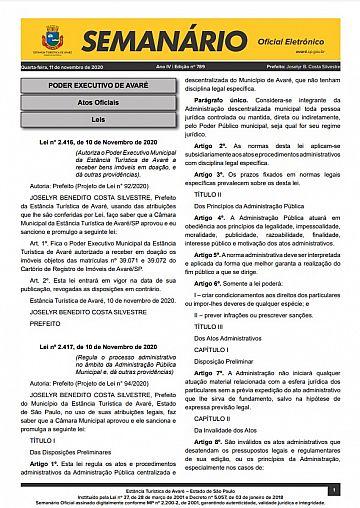 Semanário Oficial - Ed. 789