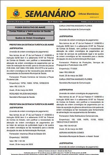 Semanário Oficial - Ed. 591