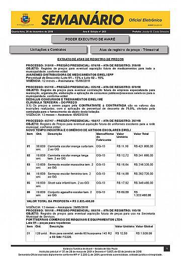 Semanário Oficial - Ed. 263