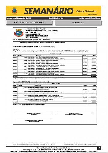 Semanário Oficial - Ed. 454